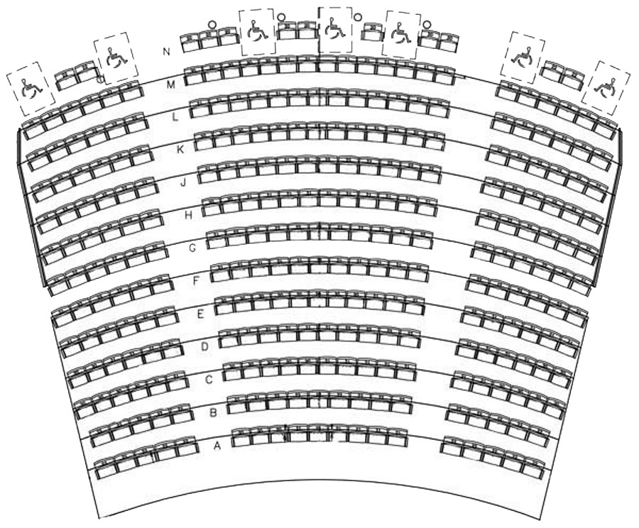 Freedom hall seating chart nathan manilow theatre seating chart